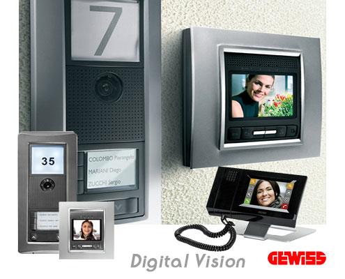 ایفون تصویری Digital-Vision شرکت گویس ایتالیا  domotics Digital Vision