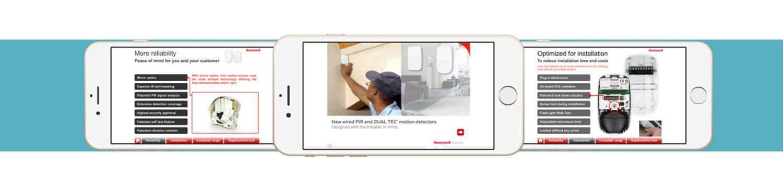 سیستم اعلام سرقت (دزدگیر) شرکت هانیول (honeywell) سیستم های اعلام سرقت (دزدگیر) شرکت هانیول امریکا Honeywell Intrusion App3 1500x367